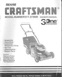 craftsman lawn mower 917 37368 user guide manualsonline com