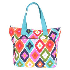 french bull 18 5in yoga tote bag floral ikat pattern target