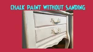 can chalk paint be used without sanding chalk paint distress no sanding best way to sand chalkpaint distressing hack