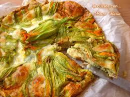 ricette con fiori di zucchina al forno frittata al forno con fiori di zucca in cucina con marta