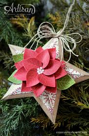 handmade paper chrismas ornament lots of layers and dimension