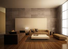 beige brown color minimalist living room design ideas with low