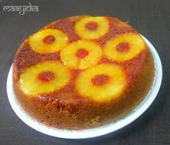 pineapple upside down cake eggless maayeka