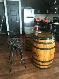 whiskey barrel side table barrel stool side table emmariversworks com