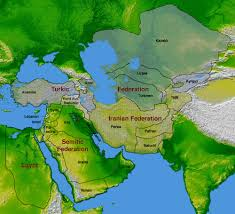 Political Map Middle East by Visions2200 Imaginaryborderlands