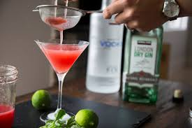 martini bacon watermelon and basil martini