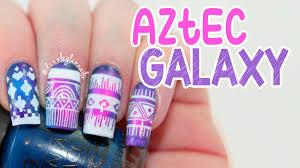 aztec galaxy nail art tutorial youtube