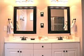 Design Ideas For Brushed Nickel Bathroom Mirror Opulent Design Mirrors Bathroom Vanity Double Master Framed Ideas