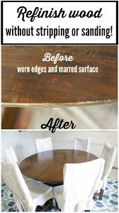 Restaining Kitchen Cabinets Without Stripping How To Refinish A Table Without Sanding Or Stripping Tutorials