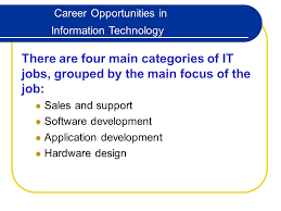 career opportunities in information technology there are four main
