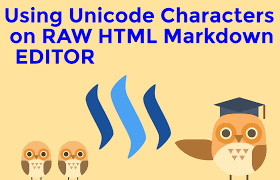 tutorial html editor steemitguide tutorial on how to use unicode characters on steemit