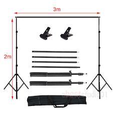 photo studio continuou lighting kit umbrella backdrop background