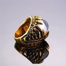 blue rock rings images U7 biker ring blue amulet gold color stainless steel turkish eye jpg