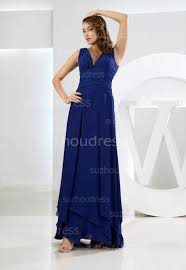 navy blue prom dresses 2017 v neck sleeveless floor length chiffon