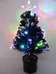 Black Christmas Tree Uk - 60cm black fibre optic christmas tree with multi coloured led