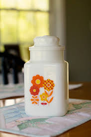 vintage milk glass canister memories pinterest milk