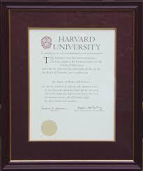 harvard diploma frame awards allen custom frame