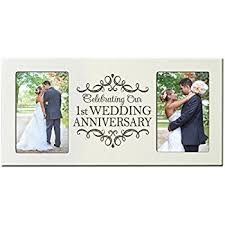 1st wedding anniversary gifts for him 1st wedding anniversary picture frame gift for