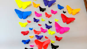 how to make paper butterflies wall decor diy crafts