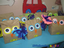 using this for my classroom decor owl paper bag craft