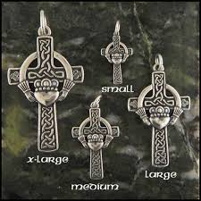 sterling silver claddagh celtic cross pendant walker metalsmiths