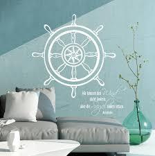 maritim wandtattoo wandaufkleber steuerrad meer wind spruch zitat