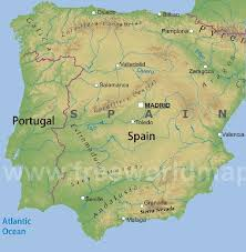 physical map of spain nature of the cantabrian mountains spain geographic location
