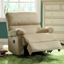 Quincy Rocker Recliner Chloe Sand Fabric Nursery Swivel Glider Recliner Chair Brown