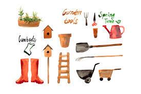 garden tools illustrations creative market
