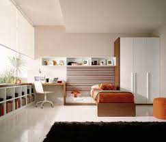 Elegant Kids Bedroom Design With Wooden Study Table Corner Beside - Study bedroom design