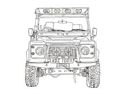 land rover drawing land rover booklet on behance