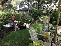 artist in the garden jpg