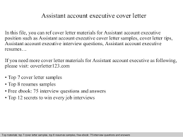 Executive Cover Letter Tips Assistant Account Executive Cover Letter 1 638 Jpg Cb 1409261008