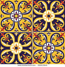 moroccan wrapping paper tile pattern vector seamless portugal azulejos stock vector