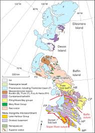 Map Of Upper Peninsula Correlation Of Archaean And Palaeoproterozoic Units Between