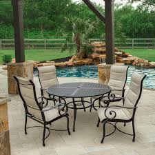 Outdoor Lifestyle Patio Furniture by Elysian 5 Piece Padded Sunbrella Sling Patio Dining Set W 52 Inch