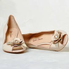 wedding shoes in south africa grace blush ivory leather peep toe wedding shoes by