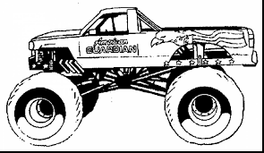awesome monster truck coloring pages with monster jam coloring