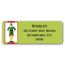 buddy the return address labels paperstyle