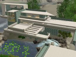 sims 3 futuristic falling water house by ramborocky on deviantart