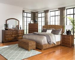 Bedroom Sets Natural Wood Coaster Laughton Woven Banana Leaf Queen Bed Coaster Fine Furniture