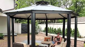 How To Build A Grill Gazebo by Monte Carlo Octagonal 14 U0027 X 14 U0027 Aluminum Roof Gazebo Youtube