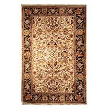 Designer Wool Area Rugs Karastan Modern Black Ivory Gold Red Green Wool Rug 6702