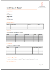 closure report template programme project tools project closure document templates