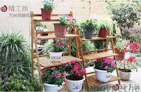 Flower Wholesale Wood Floor Balcony Flower Wholesale Flower Spider Plants Indoor