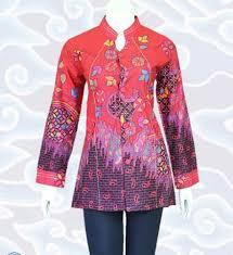 23 contoh model baju batik atasan terbaru 2017