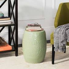 Ceramic Side Table Green Outdoor Side Tables Patio Tables The Home Depot