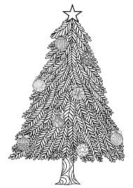 template page with blank christmas tree coloring pages star