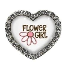 flower girl charms flower girl heart beecause charms