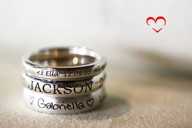 stackable engraved mothers rings stackable engraved mothers rings 3
